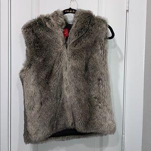 Red Saks Fifth Avenue Faux Vest-  S/M
